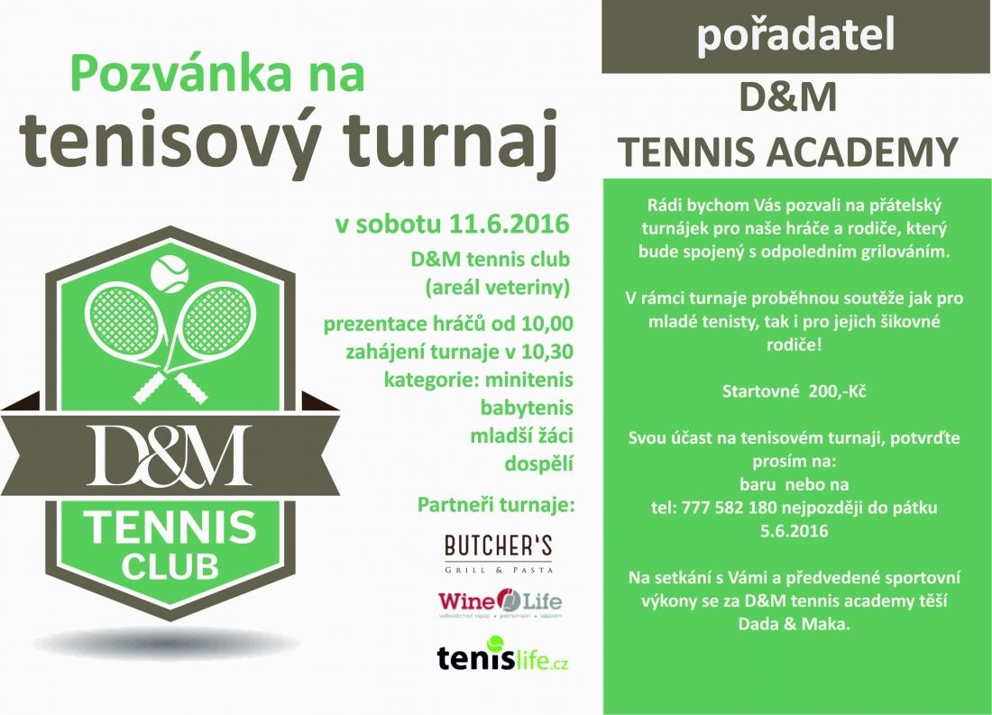 Tenisový turnaj 11.6.2016